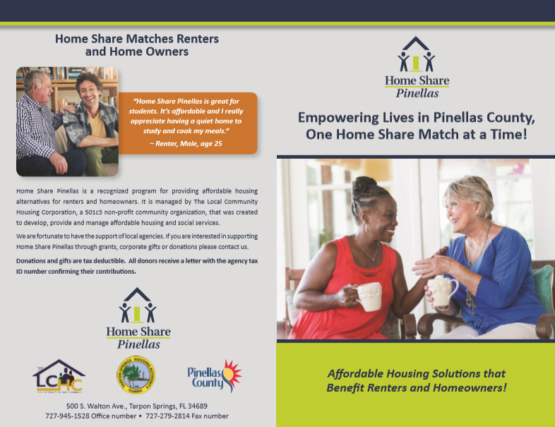 Home Share Pinellas Brochure