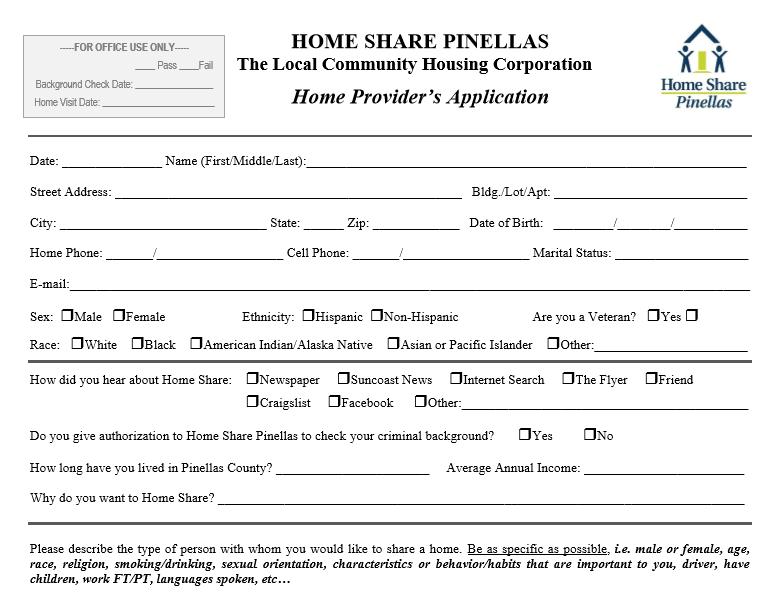 Home Provider Application